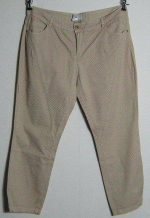 RICK CARDONA Jeans Hose Größe 23 K46 Beige Gepunktet