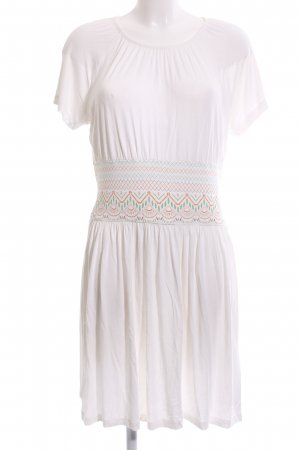 rick cardona Jerseykleid weiß grafisches Muster Casual-Look
