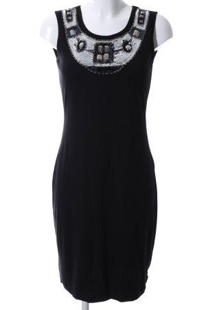 rick cardona Jerseykleid schwarz-silberfarben Elegant