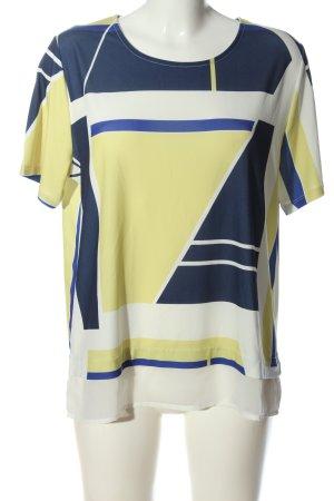 rick cardona Kurzarm-Bluse abstraktes Muster Casual-Look