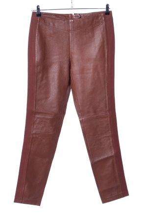 rick cardona Pantalón de cuero marrón look casual