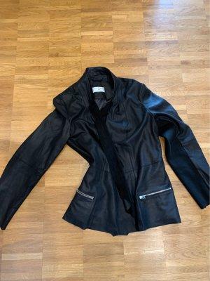 rick cardona Leather Blazer black