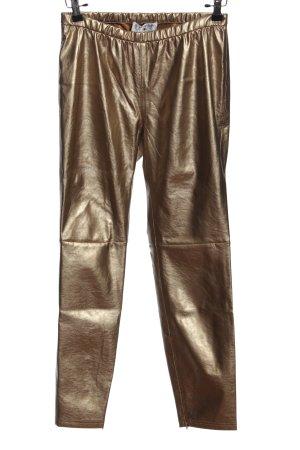 rick cardona Leggings goldfarben Glanz-Optik