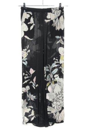 rick cardona Pantalon palazzo noir-blanc imprimé allover style décontracté