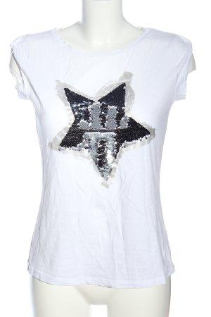 rick cardona Print-Shirt weiß Motivdruck Casual-Look