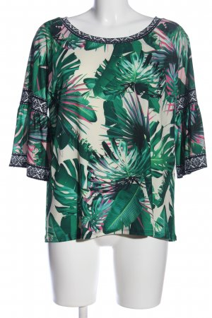 rick cardona Ruche blouse abstract patroon casual uitstraling