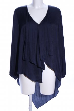 rick cardona Schlupf-Bluse blau Casual-Look