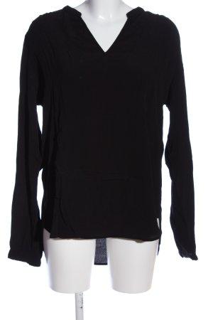 rick cardona Schlupf-Bluse schwarz-weiß Casual-Look