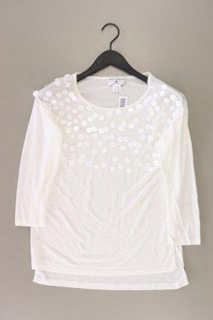 rick cardona Shirt Größe 36 3/4 Ärmel mit Pailletten weiß aus Viskose