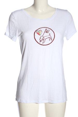rick cardona T-Shirt weiß-rot Motivdruck Casual-Look