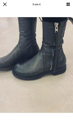 Rick Owens Drkshdw tolle Leder Boots 36-37 UK 4-4,5 Stiefel Farbe dark dust grau schwarz Schiefer