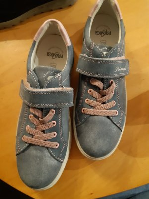 Zapatos brogue azul celeste Cuero
