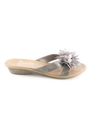 Rieker Sandalo con tacco grigio chiaro stile casual