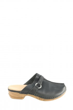 Rieker Clog Sandals black casual look