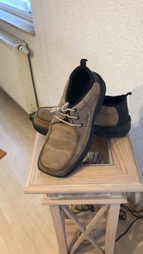 Rieker Chaussures à lacets gris brun-noir cuir