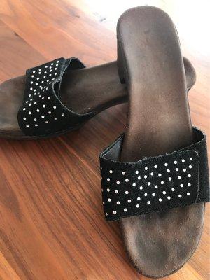 Rieker Sandales confort noir-argenté cuir