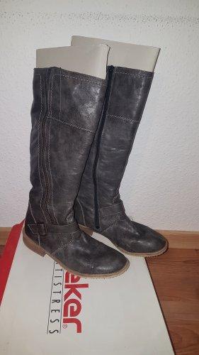 Rieker Botas elásticas gris Imitación de cuero