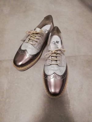 Rieker Zapatos estilo Oxford color plata-color bronce