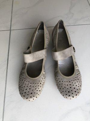 Rieker Escarpins Mary Jane gris clair-chameau