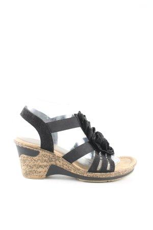 Rieker High Heel Sandaletten schwarz Casual-Look