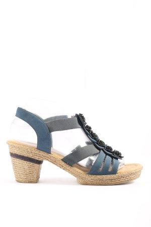 Rieker High Heel Sandaletten braun-blau Casual-Look
