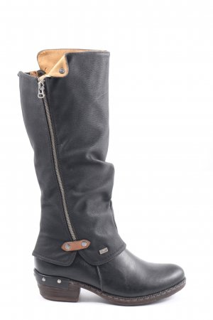 Rieker High Heel Stiefel schwarz-nude Casual-Look