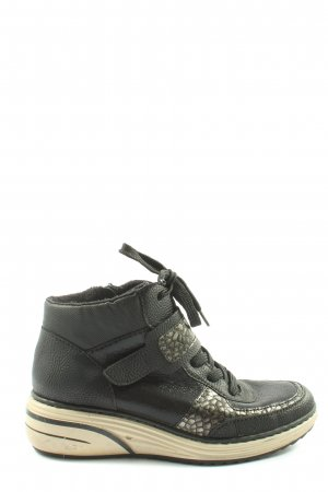 Rieker High Top Sneaker schwarz-silberfarben Casual-Look