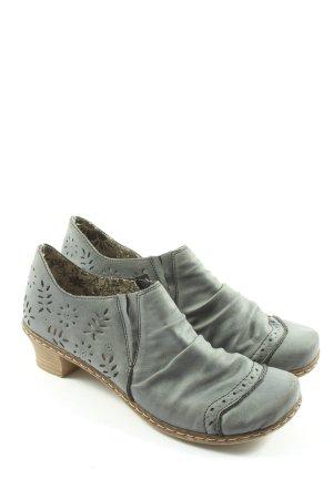 Rieker Chaussure à talons carrés gris clair style décontracté