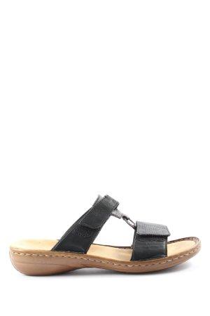 Rieker Sandales confort brun-noir style décontracté