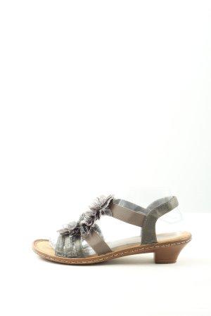 Rieker Comfort Sandals light grey-brown casual look