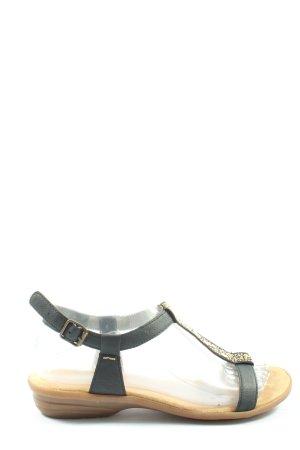 Rieker Komfort-Sandalen schwarz Casual-Look
