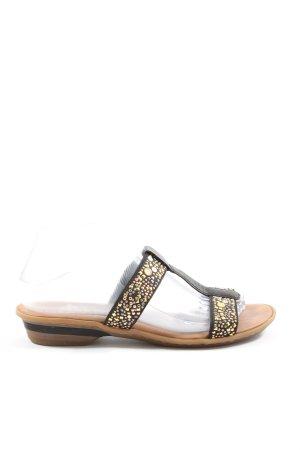 Rieker Sandalo comodo nero-oro stile casual