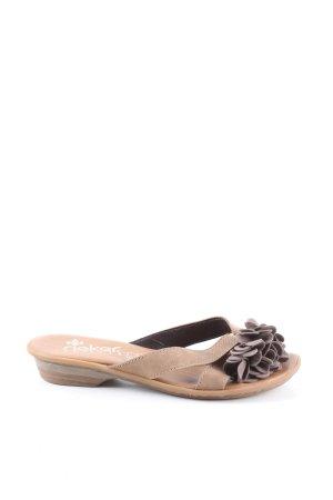 Rieker Comfort Sandals cream casual look