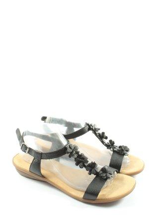 Rieker Sandales confort noir style décontracté