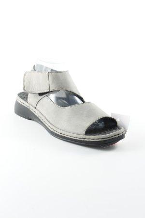 Rieker Comfort Sandals grey leather