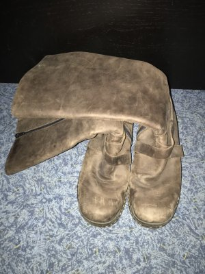 Rieker Futrzane buty brązowy