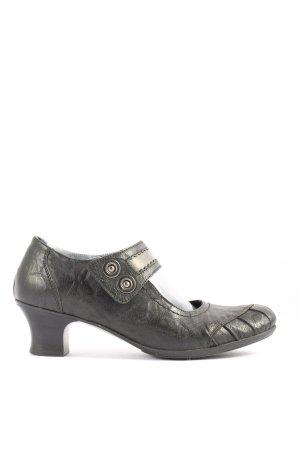 Rieker Chaussures Mary Jane noir-blanc cassé moucheté style d'affaires