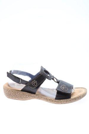 Rieker Outdoor Sandals black-brown casual look