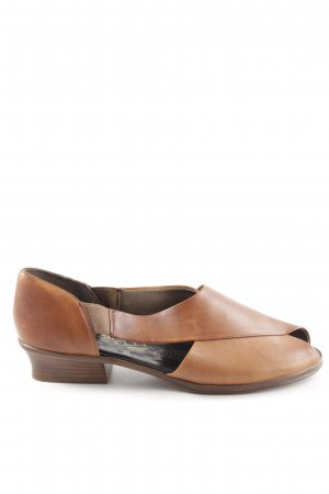Rieker Peep Toe Ballerinas brown-light orange casual look