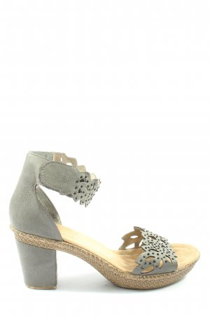 Rieker Strapped High-Heeled Sandals light grey casual look