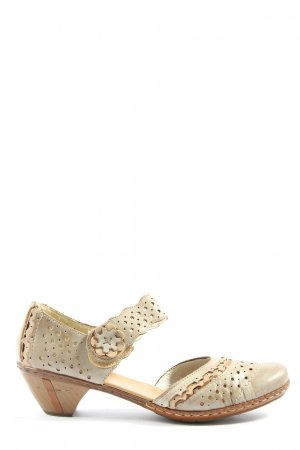 Rieker Mary Jane Halbschuhe creme Casual-Look