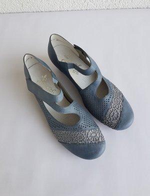 Rieker Escarpin à boucle gris ardoise-bleu pâle synthétique