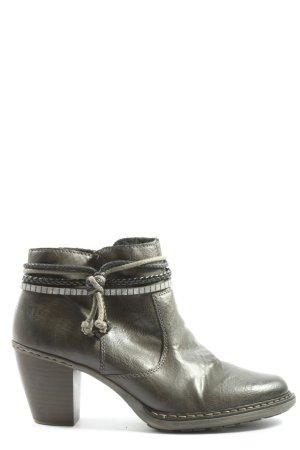 Rieker Reißverschluss-Stiefeletten schwarz-silberfarben Casual-Look