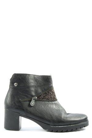 Rieker Reißverschluss-Stiefeletten schwarz-braun Casual-Look