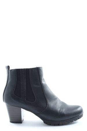 Rieker Reißverschluss-Stiefeletten schwarz Casual-Look