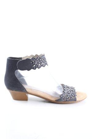Rieker Riemchen-Sandaletten schwarz-braun Casual-Look