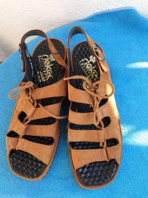 Rieker Platform High-Heeled Sandal bronze-colored-light brown