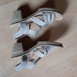 Rieker Sandalias cómodas blanco puro-marrón arena