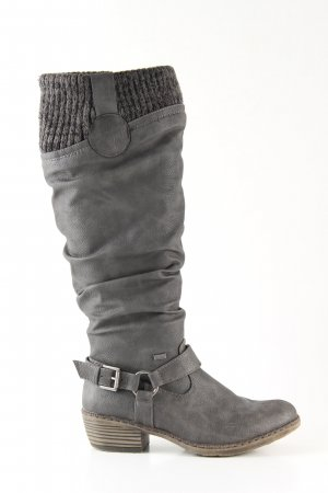 Rieker Stivale militare grigio chiaro stile casual
