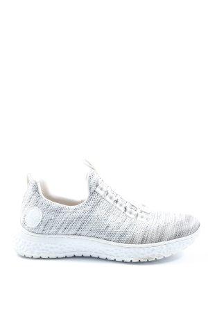 Rieker Slip-on Sneakers white flecked casual look